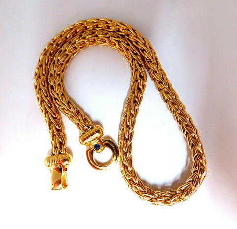 Italy Elongated Franco Linked Chain Toggle Necklace 14 Karat