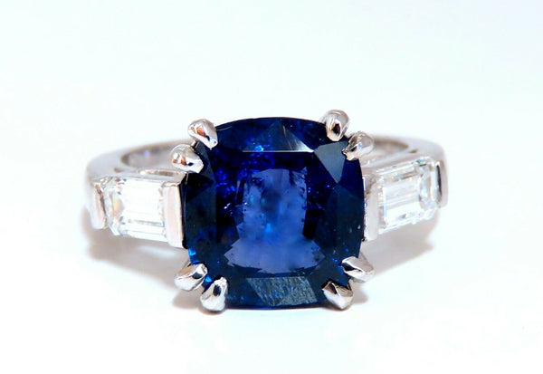 4.44ct GIA Certified Natural Color Change Blue Sapphire Ring 18 Karat