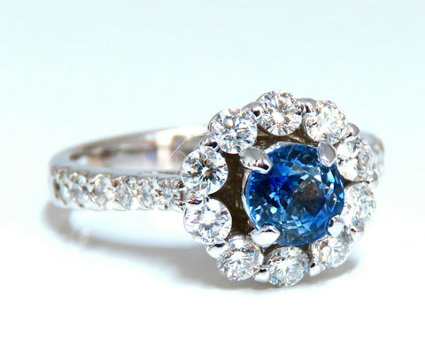 2.01ct Natural Sapphire Diamond Cluster Ring 14 Karat