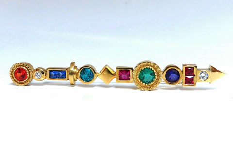 11.30ct Directional Pin / Hair Pin 14 Karat Colors & Pride Statement