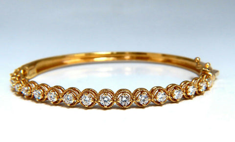 2.02ct Natural Diamonds Bangle Bracelet 14 Karat