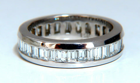 2.04ct Natural Baguette Diamonds Eternity Ring 14Kt G/VS Size 6.5