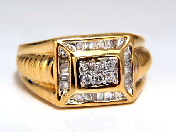 .75ct Mens Diamond Ring 14kt Masculine Mod