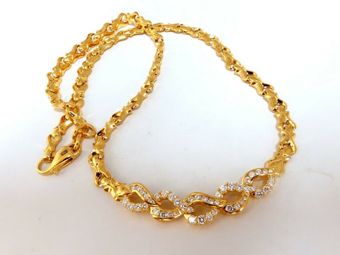 1.50ct Diamonds Interlinked 18Kt Gold Necklace