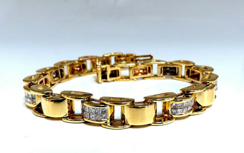 3.00ct Princess Cut Diamonds Arch Hinged Durable Bracelet 14kt Gold