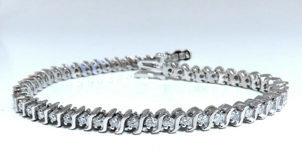 2.02ct Natural Diamonds Tennis Bracelet 14kt 7 Inch