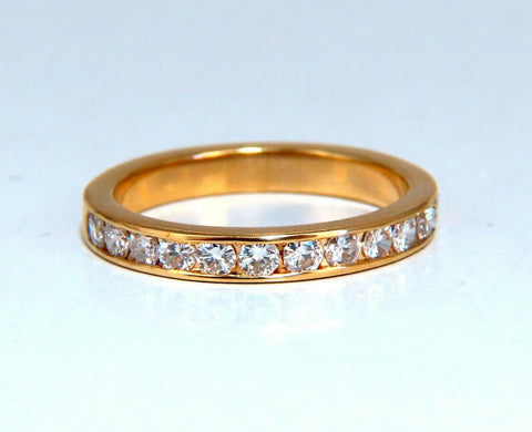 .54ct natural round diamond band ring 14 Karat