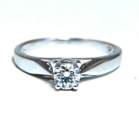 .35ct Natural Round Diamond Engagement Ring 14kt White Gold Traditional Prime