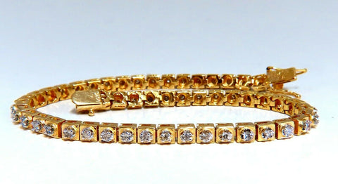 1.04ct Round Diamonds Vintage Retro Style Bracelet 14kt