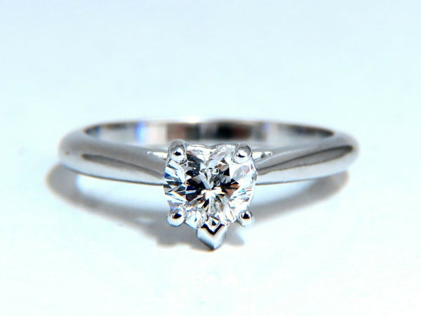 GIA Certified .55ct heart cut diamond solitaire ring platinum classic D/VS