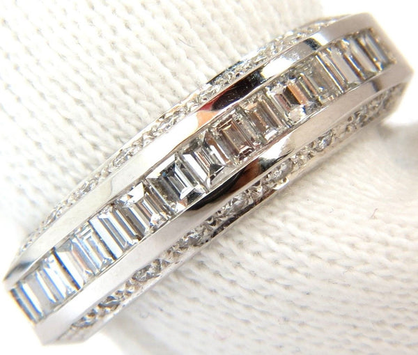 1.00CT BRILLIANT SQUARE BAGUETTE CUTS & ROUNDS CUTS DIAMOND BAND 14KT G/VS