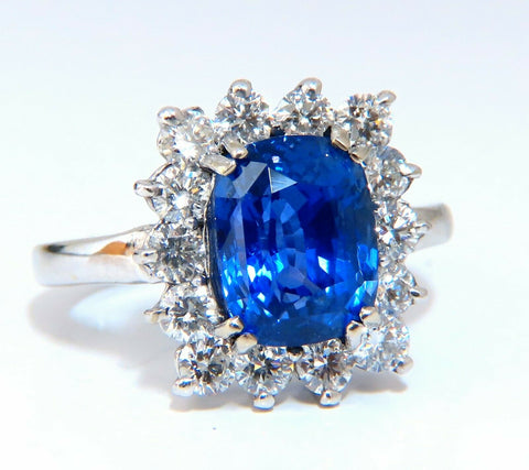 GIA Certified 5.05ct Natural No Heat Color change Sapphire Diamonds Ring