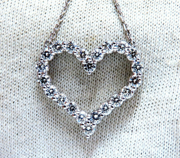 1.92ct Open Heart Natural diamonds necklace 14 karat