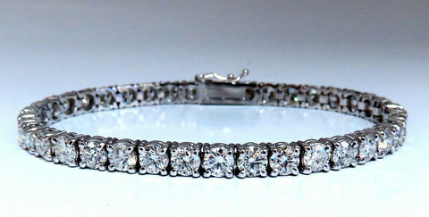 11.45ct Natural Diamonds Tennis Bracelet 14kt Gold Classic Riviera