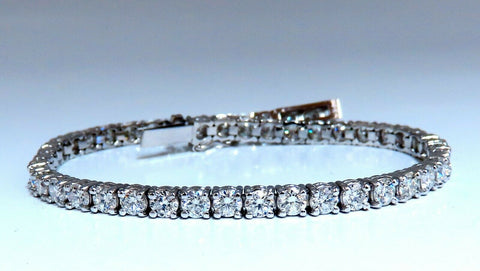 6.65ct Natural Diamonds Tennis Bracelet 14kt Gold Classic Riviera