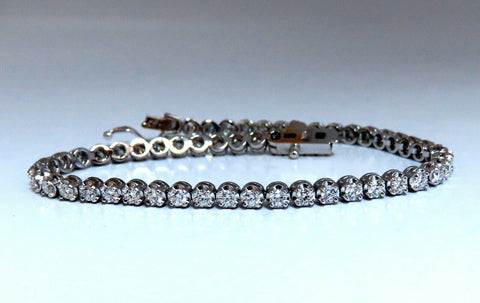 2.34ct Natural Diamonds Tennis Bracelet 14kt Gold Classic Riviera