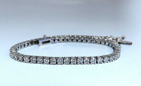 2.87ct Natural Diamonds Tennis Bracelet 14kt Gold Classic Riviera