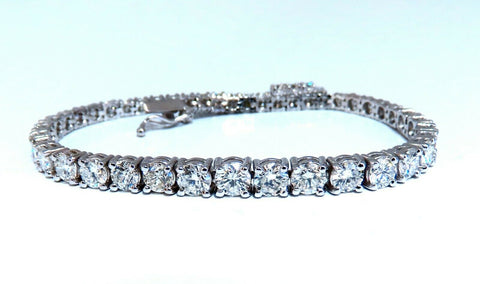 6.43ct Natural Diamonds Tennis Bracelet 14kt Gold Classic Graduated Caliber