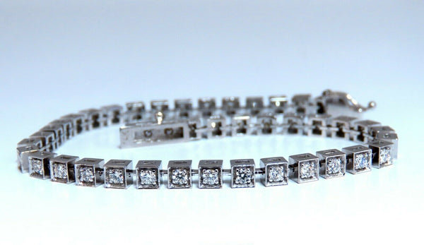 1.40ct Box Bead Set Prime Pave Natural Round Diamonds Bracelet 14kt