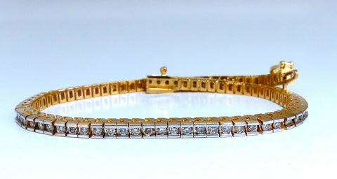 1.40ct Natural Diamonds Tennis Bracelet 14kt Gold Classic Channel Mount