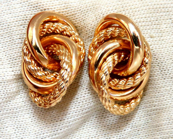 14kt Gold Intertwined Knot Earrings