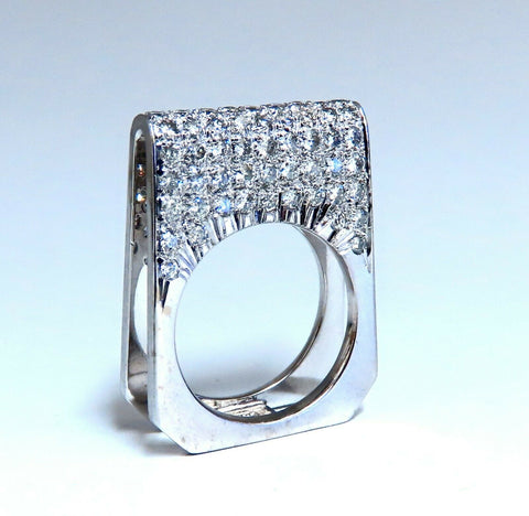 2.00ct Natural Round Diamonds Fold Over Ring Mod Deco 14kt