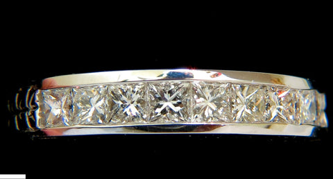14KT .72CT DIAMONDS EDWARDIAN DECO REVIVAL BAND PRINCESS CUTS