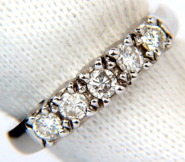 .55CT DIAMONDS RING CLASSIC BAND 14KT H/VS