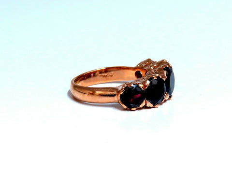 5ct Natural Garnets Victorian Deco Band 14kt Rose Gold