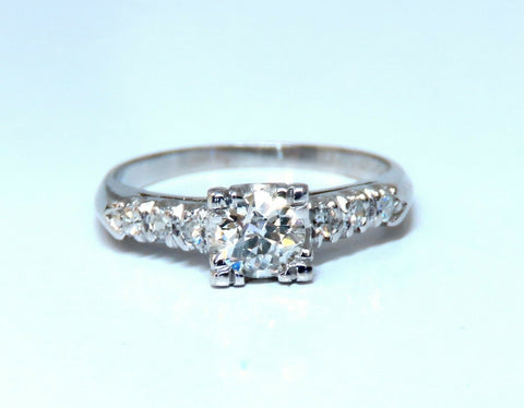 .66ct Natural Diamonds Cathedral Ring Platinum Vintage Restored