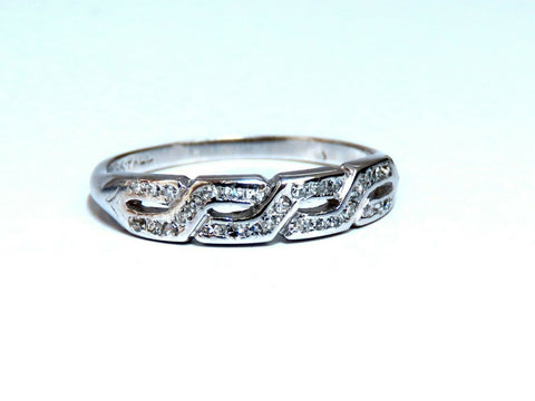 .36ct Natural Diamonds Accent Band 14kt Flat Profile Greek Infinity Crest