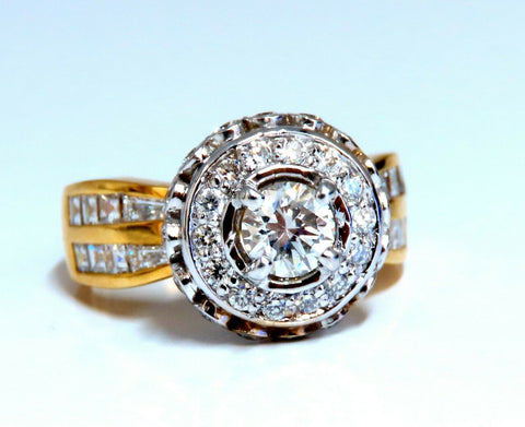 GIA Certified .59ct round cut diamond Raised Crown ring Flush 14Kt