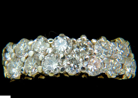 18KT 1.50ct IDEAL CUT DIAMONDS BAND G/VS PETITE PRIME