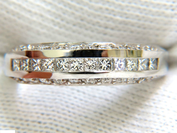1.20CT PRINCESS & ROUND CUTS DIAMOND BAND RING 14KT G/VS