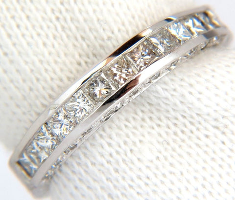 1.00CT BRILLIANT PRINCESS CUTS & ROUNDS CUTS DIAMOND BAND 14KT G/VS