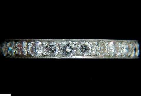 1.70ct. DIAMONDS ETERNITY RING 14KT F /SI SIZE 6.5 FULL CUTS