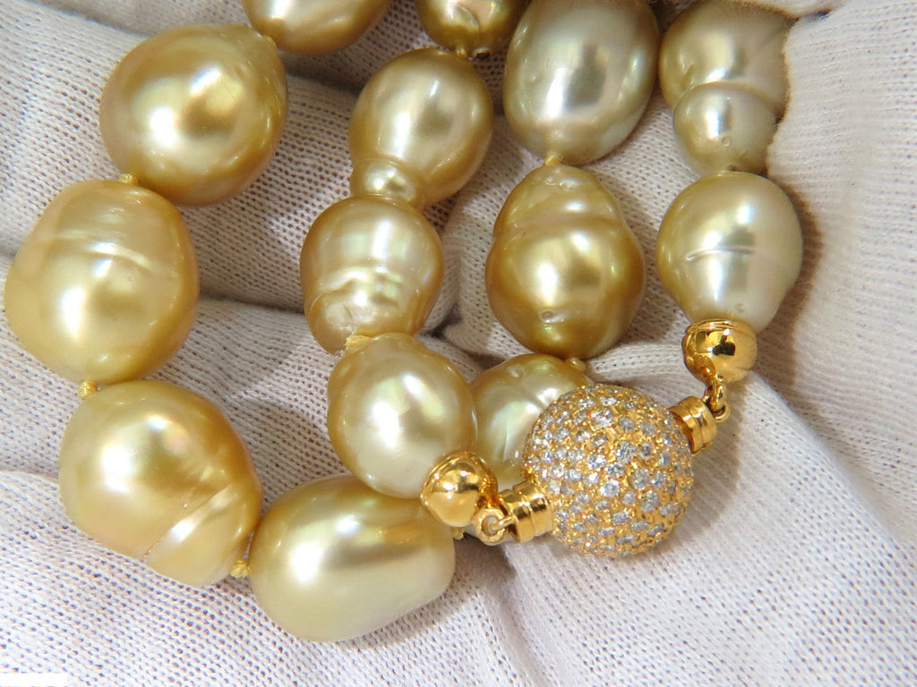 buy golden necklaces natural item yellow necklace handmade pearls shop beads online on livemaster