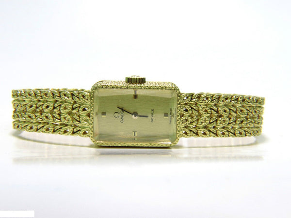 "ESTATE 18KT WORKING OMEGA ""DE VILLE"" LADIES GOLD WATCH"