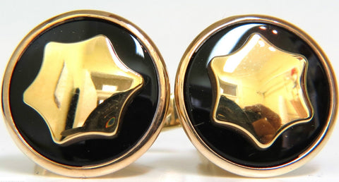 UNISEX 14KT 17.7mm 3D CUFFLINKS A+ DETAIL 8.7 GRAMS