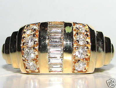 1.40ct BAGUETTE CHANNEL & FRENCH PAVE DIAMOND BAND