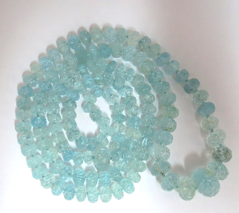 274.52ct natural aquamarines necklace endless 69 beads