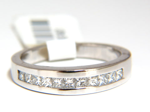 .40CT PRINCESS CUT DIAMONDS BAND RING MODERN CHANNEL 14KT