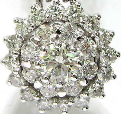 2.06CT CLASSIC CLUSTER DIAMOND PENDANT +CHAIN