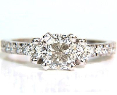 2.01CT GIA CUSHION CUT DIAMOND RING PLATINUM