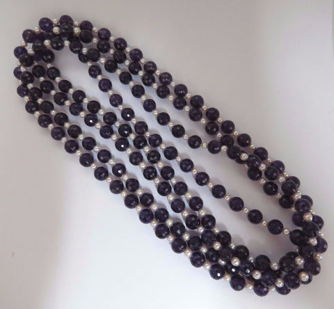 600ct natural amethyst bead necklaces (2)