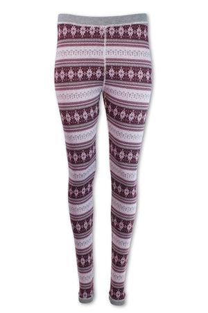 Nordic Star Base Layer Legging - Burgandy