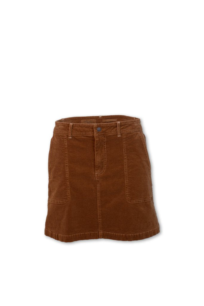 Stretch Corduroy Skirt