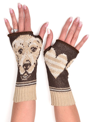 Hand Warmer Fingerless Gloves - Golden Retriever