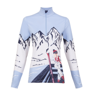 Apres Anyone?1/4 Zip Top - Bright Blue