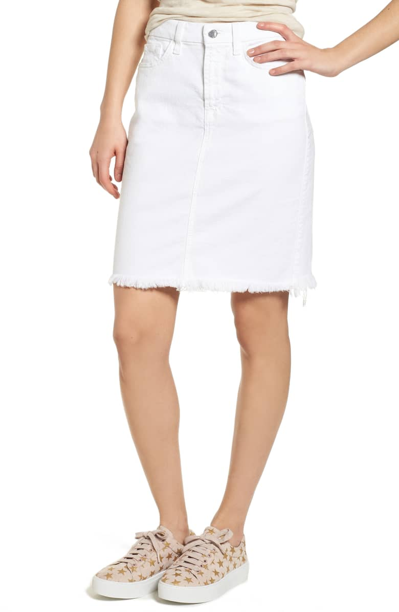 Pencil Skirt w/ Frayed Hem